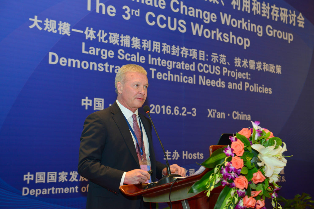 Ted Venners speaking at the 34d ccus workshop demonstrating technical needs and policies